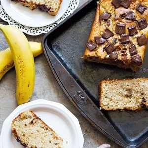 Chocolate Chunk Banana Bread (with secret ingredients!)