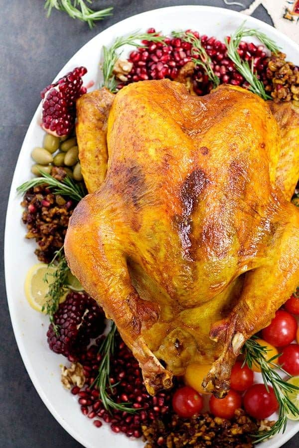 Bring a new twist to your Thanksgiving table by making this delicious no-brine Persian SpicedTurkey.It's juicy, tasty and filled with aromatic spices that will take your Thanksgiving dinner to a whole new world!