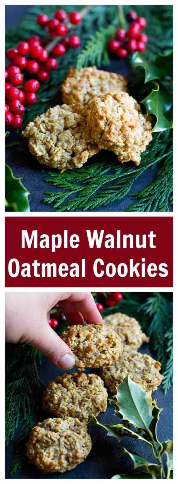 maple oatmeal cookies | maple oatmeal cookies recipe | maple oatmeal cookies healthy baking | #HolidayBaking #ChristmasBaking #Cookies
