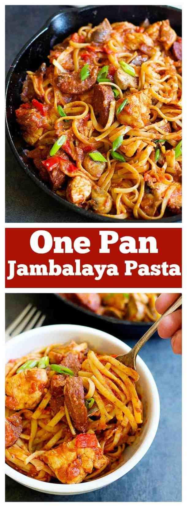 jambalaya pasta   jambalaya pasta recipe   jambalaya pasta Cajun   jambalaya pasta creamy   Cajun Jambalaya Pasta   Cajun Pasta  unicornsinthekitchen.com