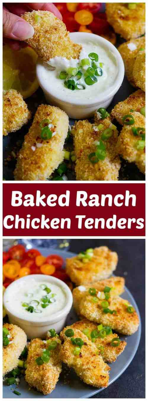 These Baked Ranch Chicken Tenders will be your go-to dinner option! They're delicious and juicy, requiring minimum effort but delivering maximum flavor!