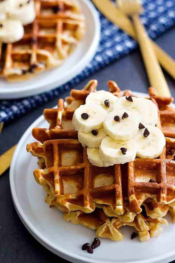 This banana waffles recipe is perfect for brunch and breakfast.