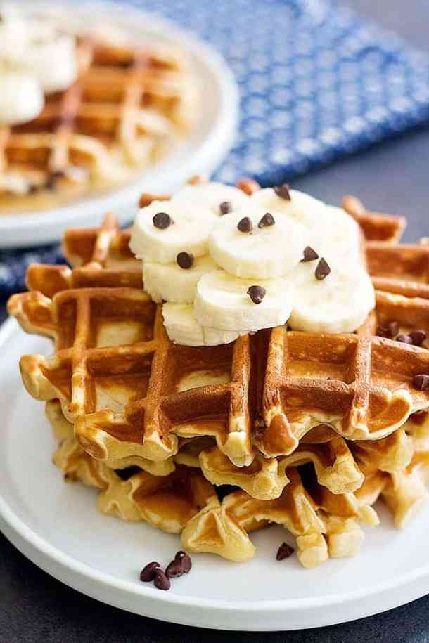 Waffles made in blender are super easy and simple.