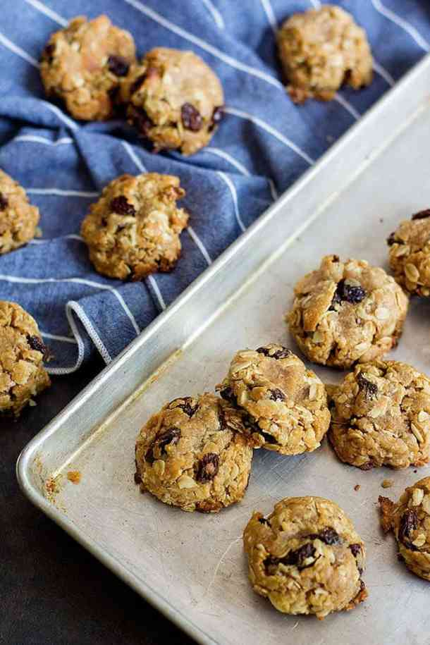 Peanut Butter Cookies with raisins are perfect holiday cookies