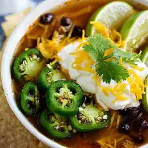 Easy Chicken Tortilla Soup (Slow Cooker, Stove top and Instant pot)