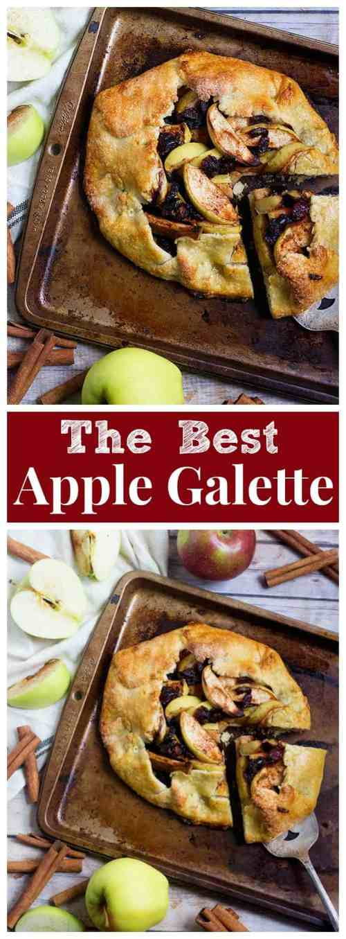 This Apple Galette Recipe will be your favorite! Buttery flaky crust filled with spiced apples and baked to perfection. From UnicornsintheKitchen.com #apple