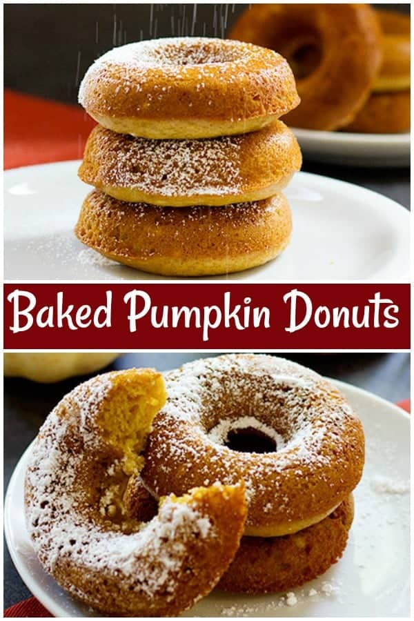 These are the best pumpkin donuts you'll ever taste! Baked Pumpkin Donuts are so simple and can be made in less than an hour using basic ingredients that are already in your pantry. #fallrecipes #pumpkinrecipes #donuts #donutsrecipes #dessert #dessertrecipes