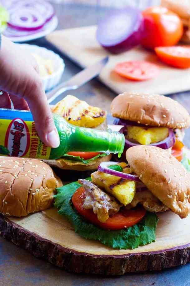 This Hawaiian Chicken Sandwich is packed with flavors and is perfect for a pack and go weekday lunch. The flavors in this sandwich are unique and so hard to resist!