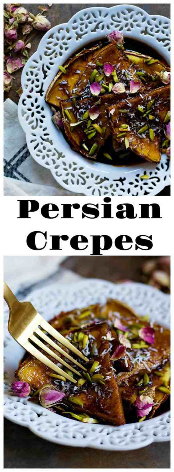 This Persian Homemade Crepe Recipe is one you'll want to remember. Cooked with molasses, this crepe is different from everything you've had before.