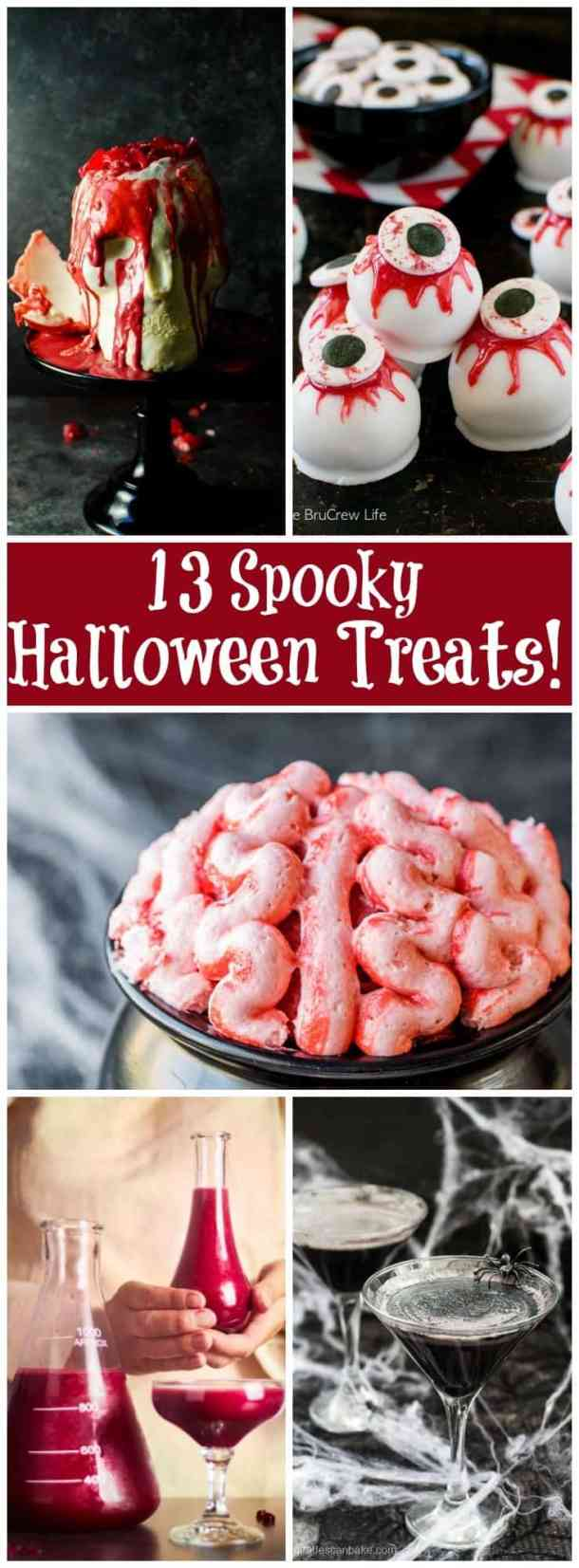 Spooky Treats for Halloween. From unicornsinthekitchen.com