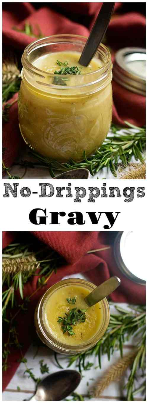 Turkey Gravy Recipe Without Drippings for Thanksgiving from unicornsinthekitchen.com #gravy #thanksgiving