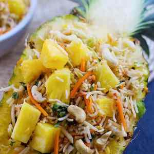 Quick Vegetarian Pineapple Fried Rice
