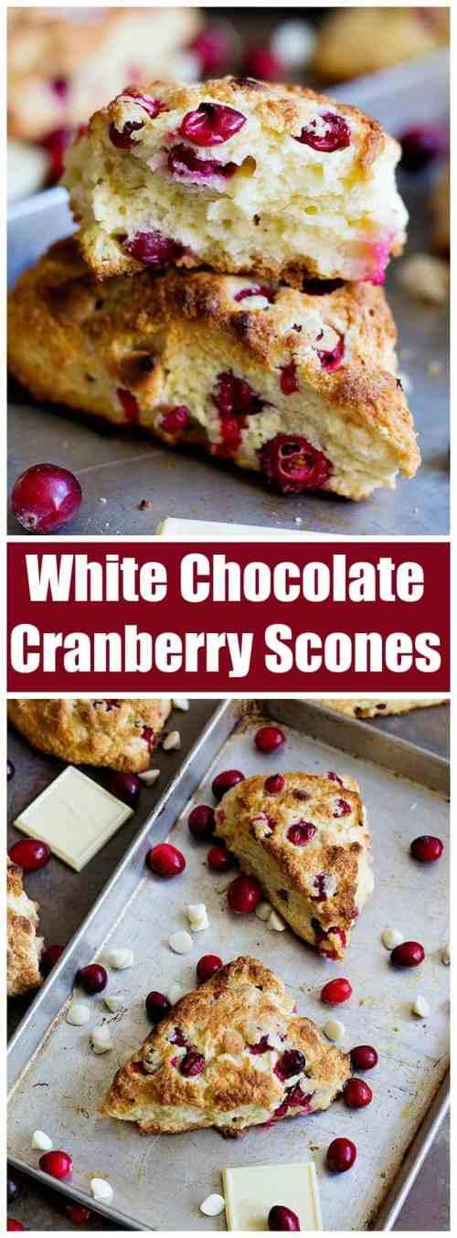 Cranberry White Chocolate Scones | Cranberry White Chocolate Scones recipe | White Chocolate cranberry Scones | White Chocolate Scones | Cranberry Scones | #Scones #EasyBaking #HolidayBaking #Breakfast