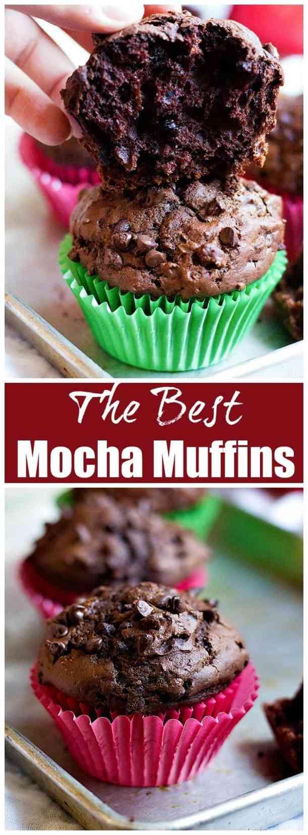 Mocha Muffins | Mocha Muffins Recipe | Mocha Muffins coffee | UnicornsintheKitchen.com #MochaMuffins #BreakfastMuffins #MuffinsRecipe #Muffins