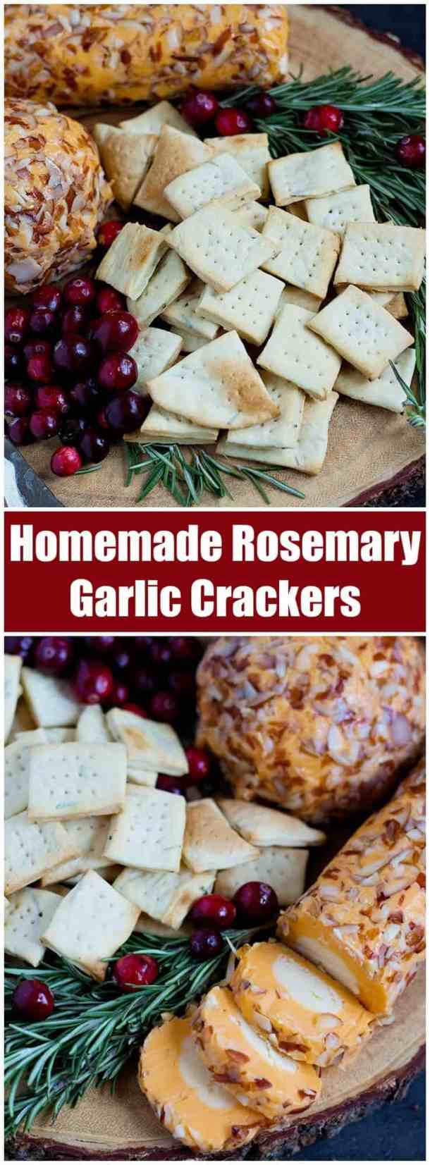 Garlic Crackers | Rosemary Garlic Crackers Recipe | Garlic Crackers Recipe | #Snacks #Rosemary #CheeseandCrackers