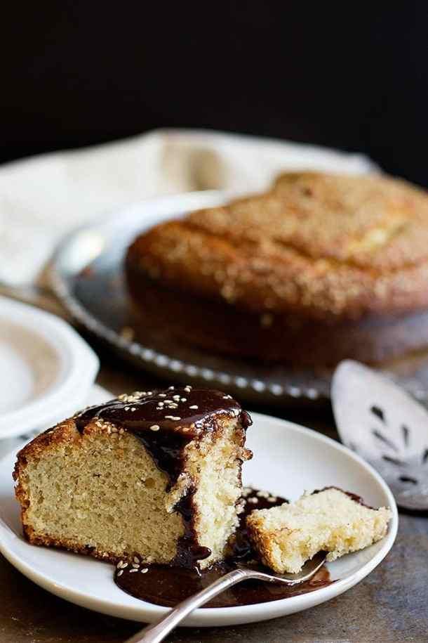 Tahini Cake   Tahini Cake Recipe   Sesame Seeds Cake   Chocolate Tahini Glaze   Tea Cake   #tahini #cake #Chocolate