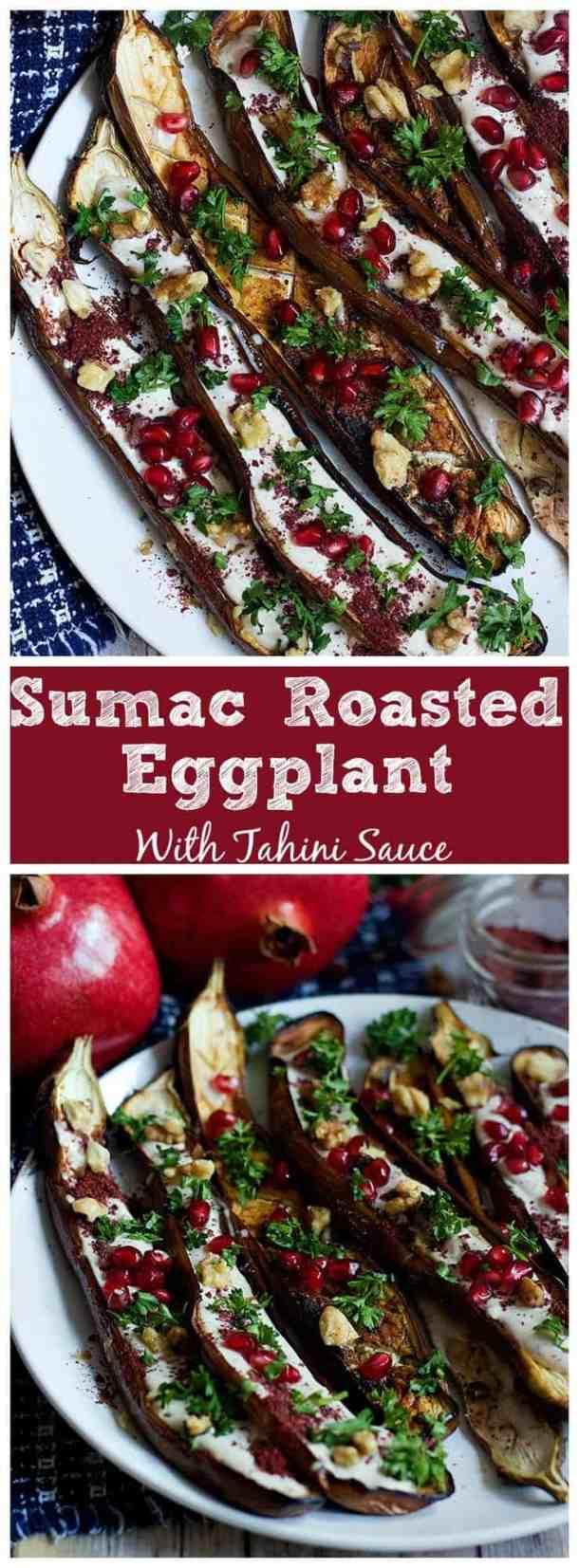 Middle Eastern Eggplant Recipe | Middle Eastern Eggplant Recipe Tahini | Middle Eastern Eggplant Recipe Dishes | Sumac Eggplant | Roasted Eggplant | Tahini Sauce | #MiddleEasternFood #PersianFood #YaldaNight