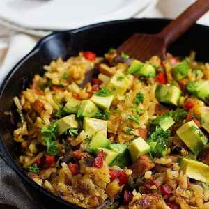 Skillet Hash Browns with Sausage