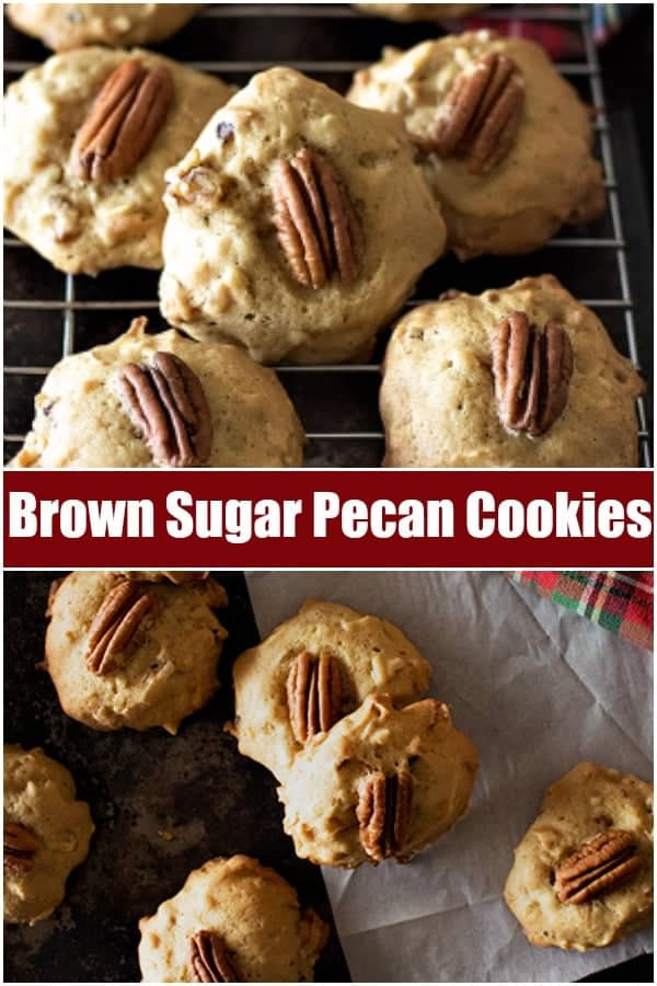 Pecan Cookies are the ultimate holiday cookies. With sweet coconut flakes, brown sugar and crunchy pecans, these cookies will be everyone's favorite!  #ChristmasBaking #ChristmasCookies #Cookies #CookieRecipes #Baking