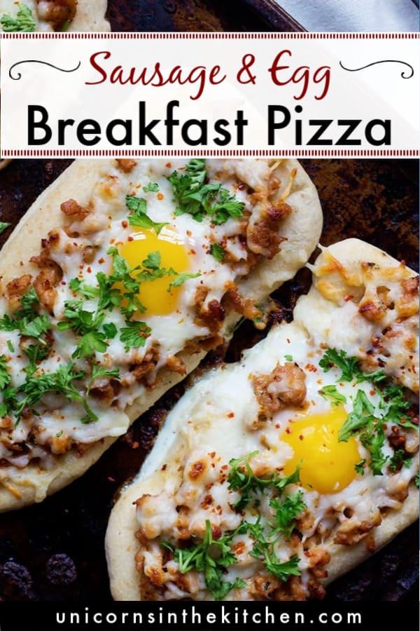 Quick Breakfast Pizza Recipe • Unicorns in the Kitchen