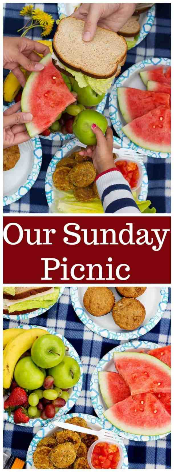 Sunday Picnic | Summer picnic | Spring Picnic | Easy Picnic | Picnic with family | Family Picnic | How to have a mess free picnic | UnicornsintheKitchen.com #picnic #picnicideas #sundaypicnic #summerpicnic