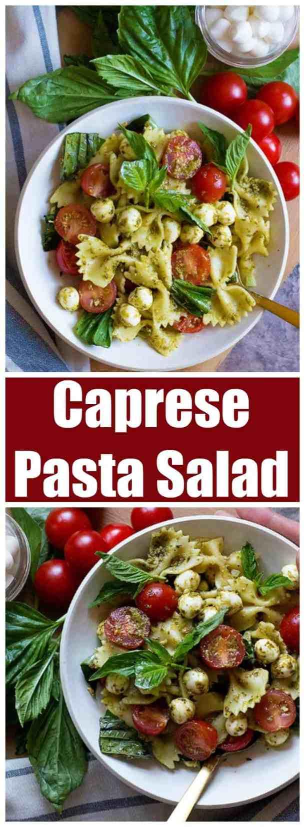 caprese pasta salad | caprese pasta salad recipe | pasta salad recipe | tomato pasta salad | tomato basil pasta salad | tomato mozzarella pasta salad | summer pasta salad | summer salad recipe | #pastasalad #caprese #capresepastasalad #pastasaladrecipe