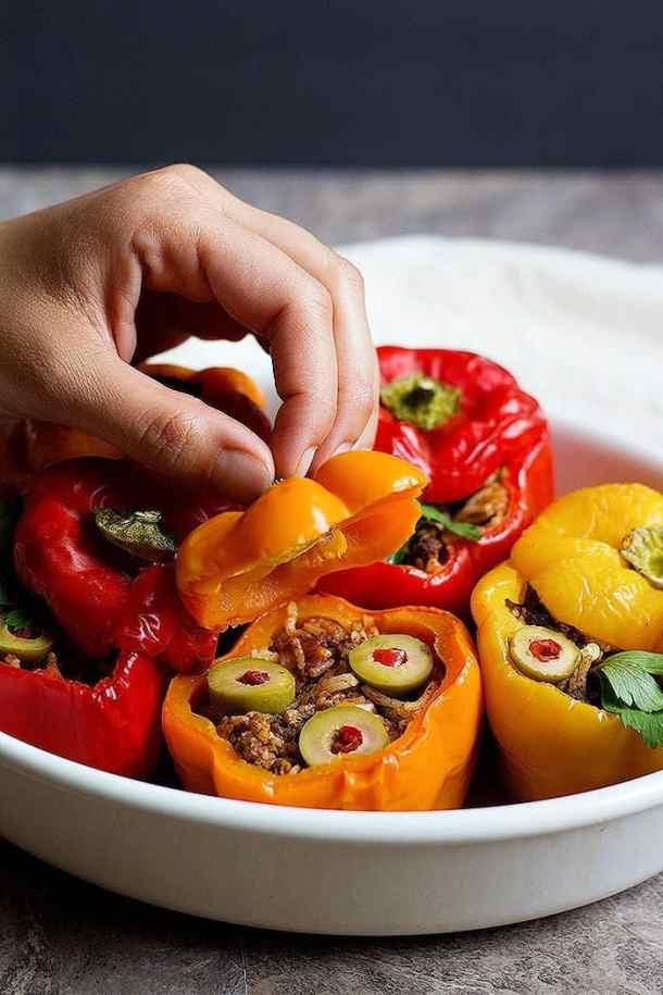 This baked stuffed peppers recipe is easy and tasty