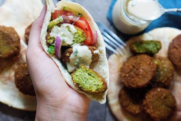 Serve these easy falafels with salad, pita and tahini sauce.