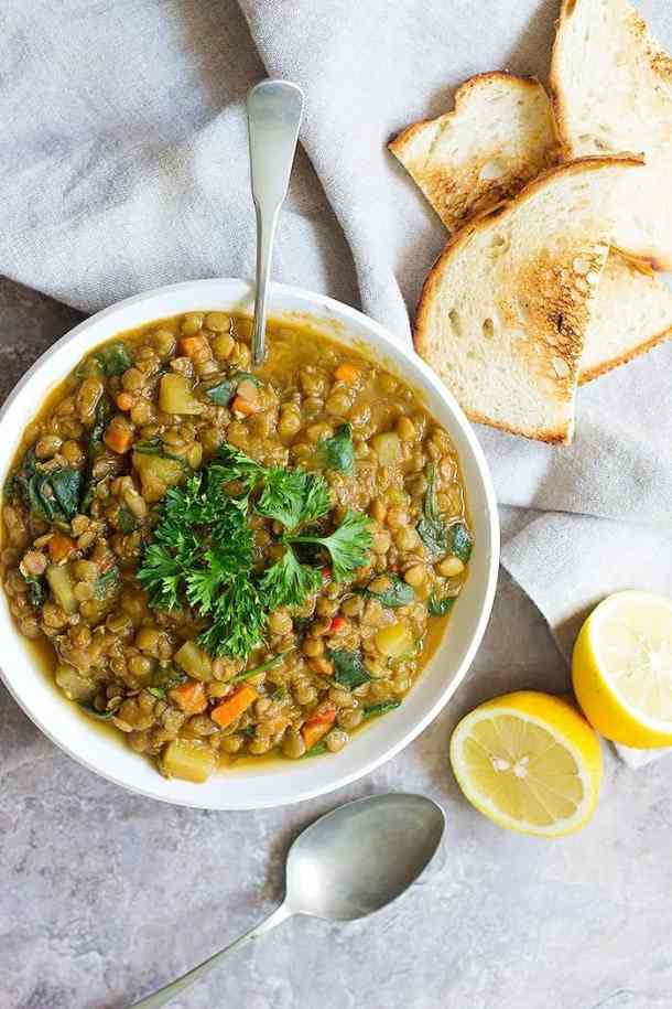 You can also make lentil soup recipe in a slow cooker