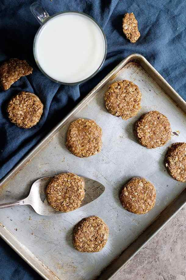 Healthy peanut butter oatmeal cookies are no bake and need only three ingredients.