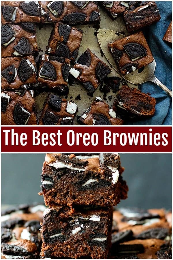 This is the one and only Oreo brownies recipe you'll ever need. Fudgy brownies stuffed and topped with Oreos are so good, you won't be able to stop eating!#brownies #oreobrownies #fudgybrownies #easybrownies #browniesrecipe