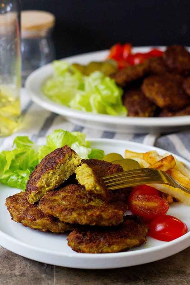 Kotlet is made with ground beef or lamb or a combination of both.