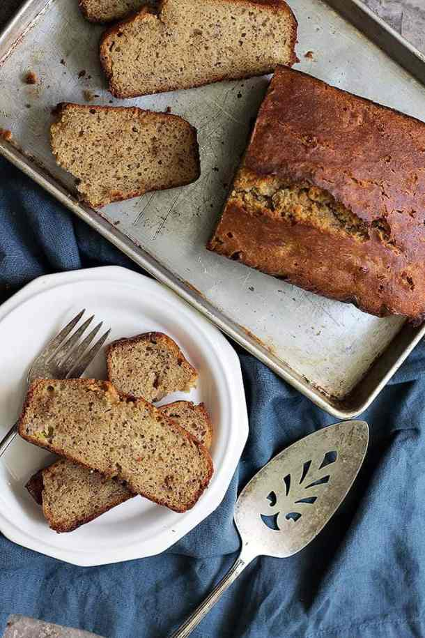 You can serve this gluten free banana bread with coffee or tea.