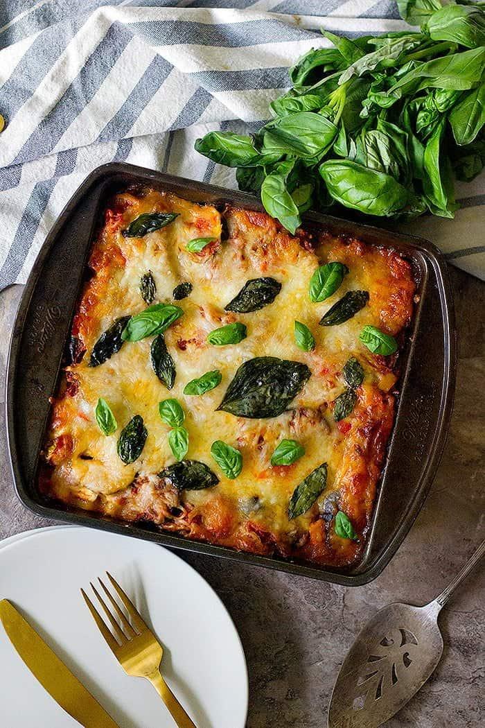 Easy Vegetable Lasagna Recipe Unicorns In The Kitchen