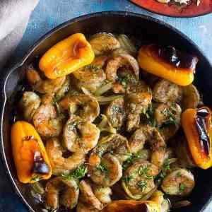 Baked Shrimp in Chermoula Marinade