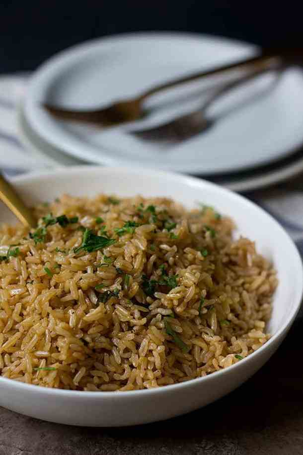 Instant pot brown rice is easy and absolutely no-fail. It includes less than 5 minutes of preparation and you will end up with delicious and fluffy brown rice every time.
