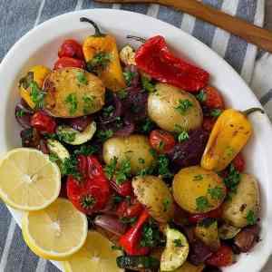 Mediterranean Oven Roasted Vegetables