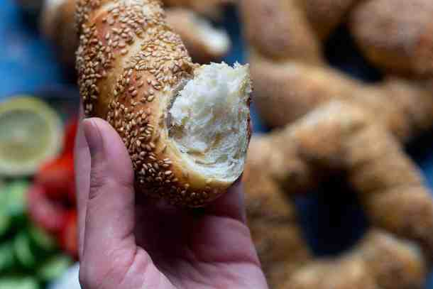 Sesame is the main flavor of this bread so use it generously. You can always store and use the leftover sesame seeds.
