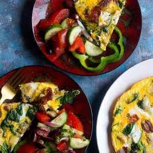 Mediterranean Spinach Omelette