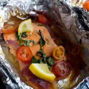 Honey Lemon Baked Salmon in Foil Recipe