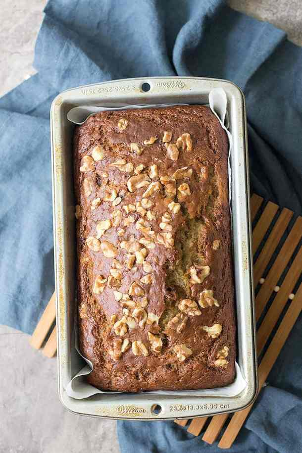 Learn how to make the best healthy banana bread using applesauce and just a few ingredients.