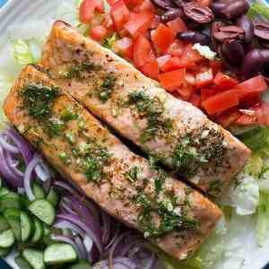 Greek Alaska Salmon Salad Recipe