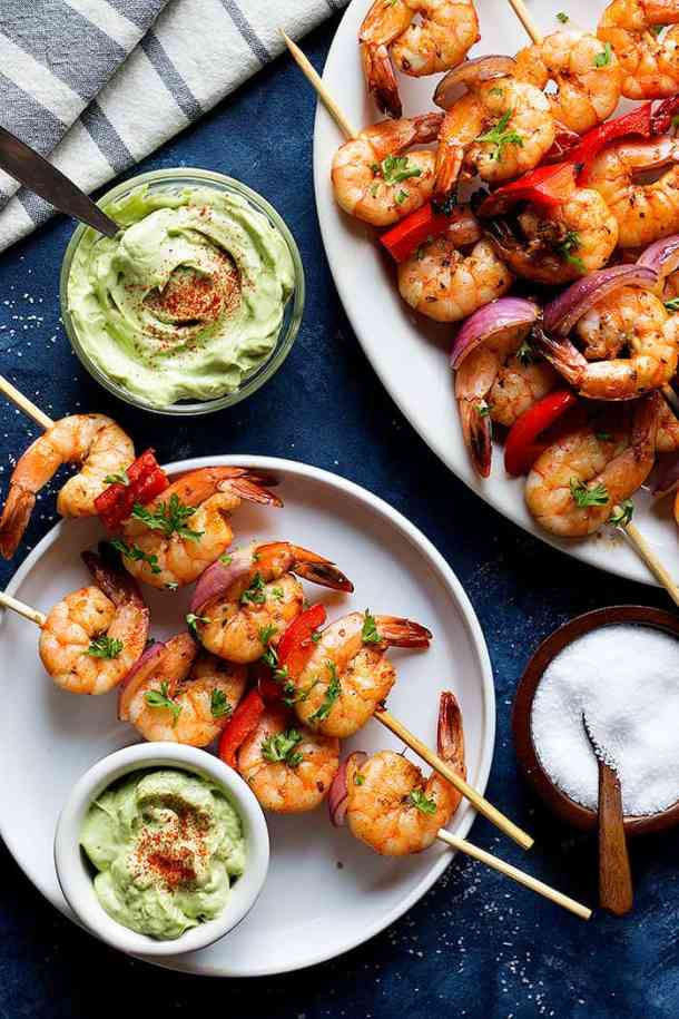 These shrimp kabobs are made with shrimp marinated in olive oil, smoked paprika, ginger and garlic then grilled until succulent and juicy. Shrimp kabobs are perfect for busy weeknight dinners. Instructions for oven and stove top are included.