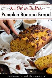 The Best Healthy Pumpkin Banana Bread