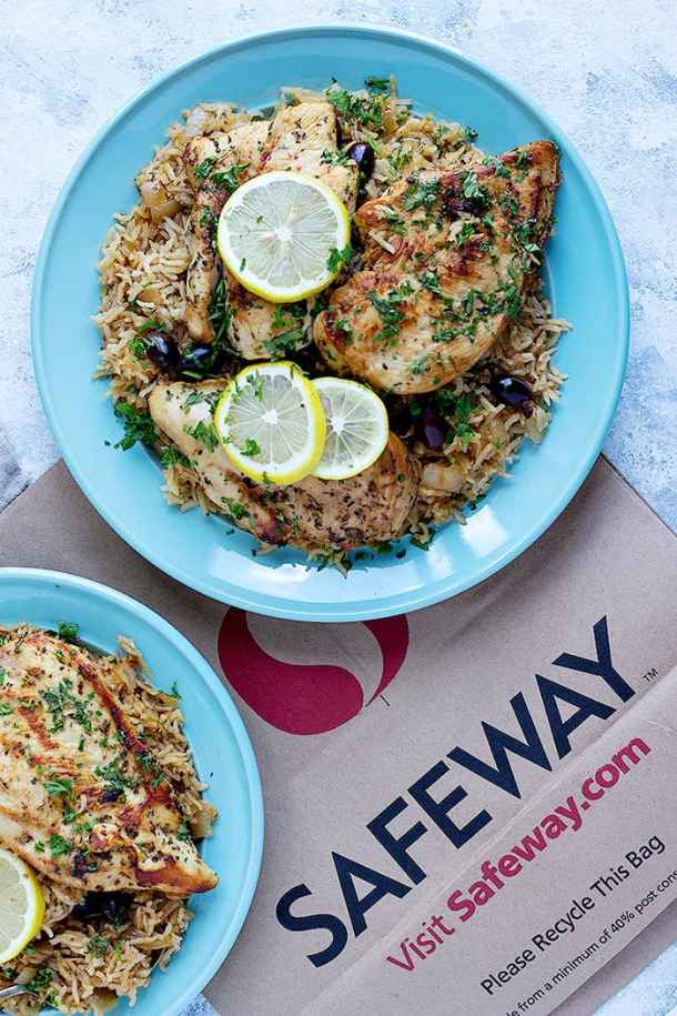This one pan chicken and rice recipe uses Greek flavors such as lemon and oregano