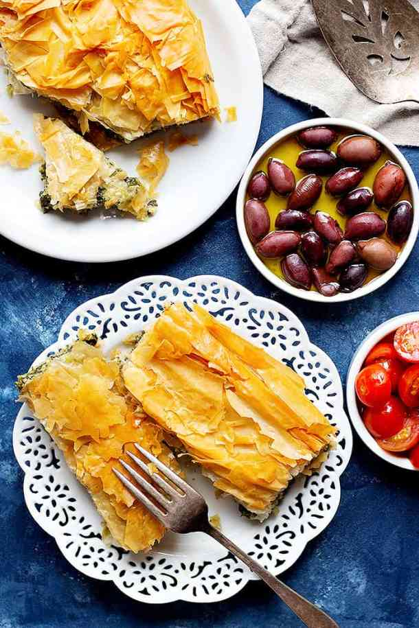 This spanakopita recipe is easy, simple and very tasty especially when served with olives.