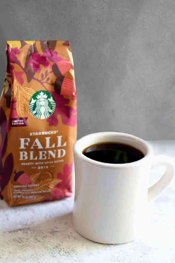 fresh coffee served with homemade coffee syrup