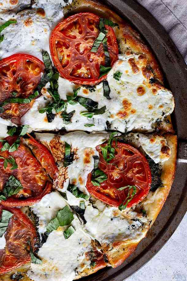 pizza caprese is a simple dinner that everyone loves.