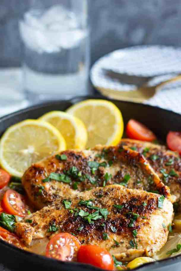 add some freshly squeeze lemon juice on this Italian chicken before serving.