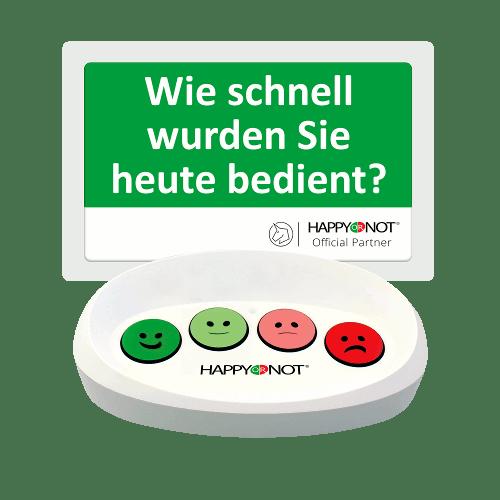 HappyOrNot Happy Or Not Smiley Terminal Gerät Buttons Wie schnell wurden Sie bedient Kundenzufriedenheit